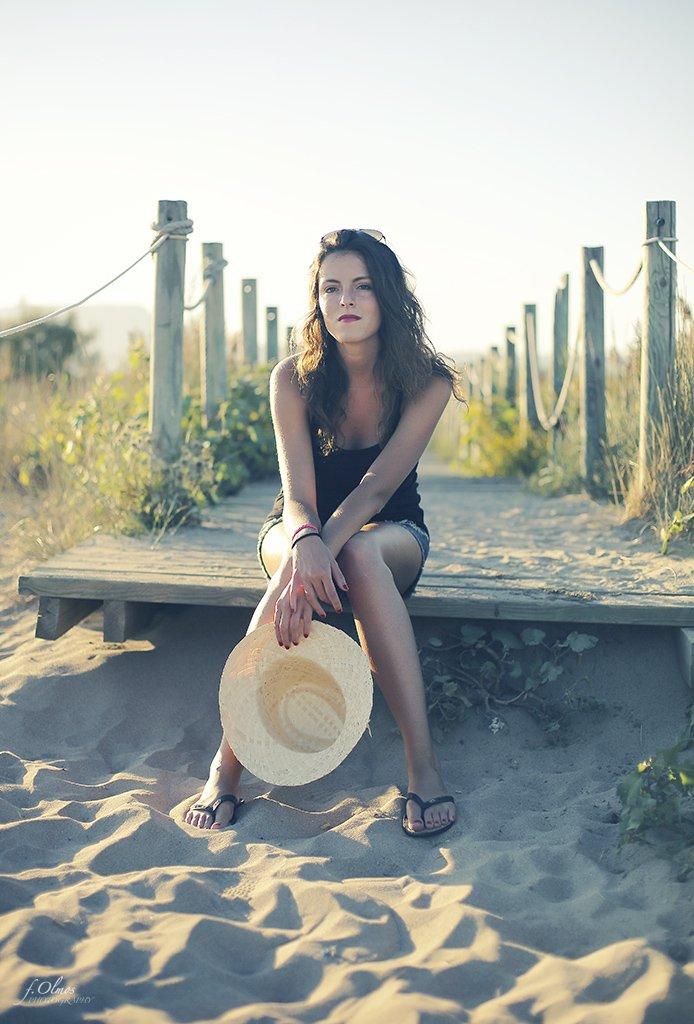 fotografia de retrato en playa